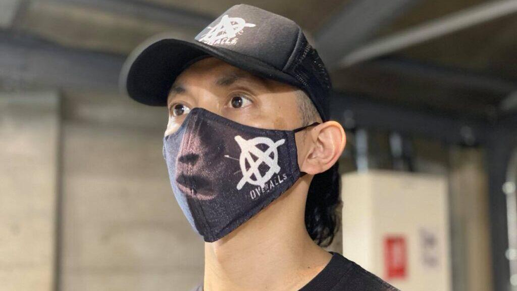 高機能マスク「エアトール」の装着例
